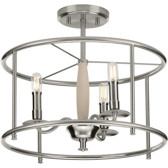Durrell Collection Brushed Nickel Semi-Flush Convertible (149 P350150-009)