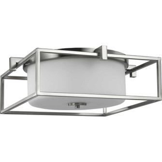 """Chadwick Collection Two-Light Brushed Nickel 15-3/8"""" Flush Mount (149 P350171-009)"""