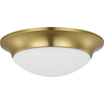 """One-Light 11-1/2"""" Etched Glass Flush Mount (149 P350146-012)"""