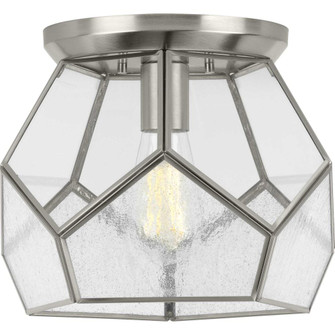 """Cinq Collection Brushed Nickel One-Light 12"""" Flush Mount (149 P3868-09)"""