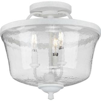 Bowman Collection Cottage White Three-Light Semi-Flush Convertible (149 P350148-151)