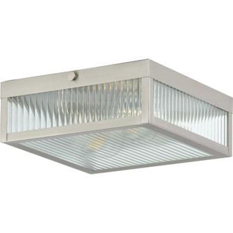"""Dwyer Collection Stainless Steel Two-Light 11"""" Flush Mount (149 P350152-135)"""