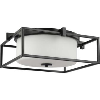 "Chadwick Collection Two-Light Black 15-3/8"" Flush Mount (149 P350171-031)"