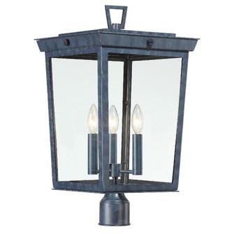 Belmont 3 Light Graphite Outdoor Lantern Post (205|BEL-A8069-GE)