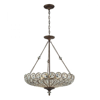 Christina 6-Light Convertible Dual Mount in Mocha with Crystal (91|12025/6)
