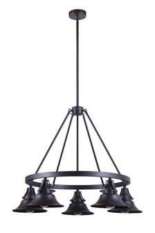 5 Light Outdoor Chandelier (54025-OBG)