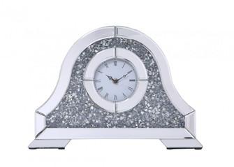 Sparkle 15.7 in. ContemporarySilver Crystal Table clock (758|MR9240)