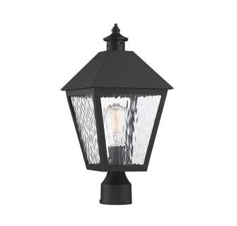 Harrison Matte Black 1 Light Outdoor Post Lantern (128 5-794-BK)