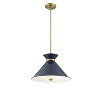 Lamar Navy Blue with Brass Accents 3 Light Pendant (128|7-2416-3-161)