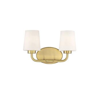 Capra Warm Brass 2 Light Bath (128 8-4090-2-322)