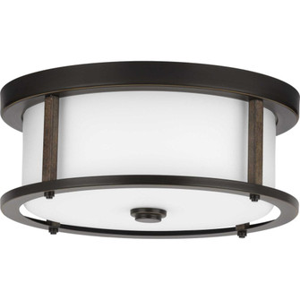 """Mast Collection Two-Light 13"""" Flush Mount (149 P350144-020)"""