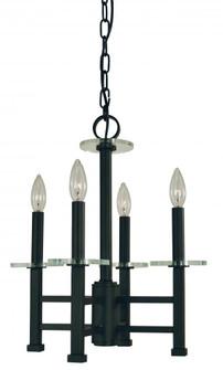 4-Lighting Matte Black Metropolitan Mini-Chandelier (84 5444 Mblack)