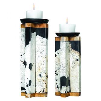 Uttermost Illini Stone Candleholders, S/2 (85|17746)