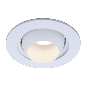 Incandescent Recess 4 inches  White Eyeball Trim, Max Lamp-R16/40W (EVRT205WH)
