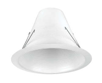 Incandescent Recess 6 inches  White Airtight Baffle Trim, Max Lamp-BR30/65W (EVRT635WH)