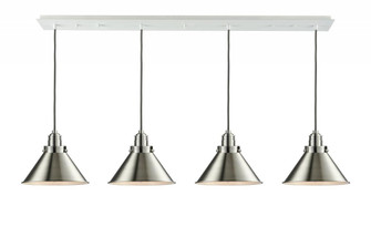 Briarcliff Linear Pendant (3442 124W-10GY-2H-SN-M10-SN)