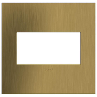 Brushed Satin Brass, 2-Gang  Wall Plate (1452|AWC2GBSB4)