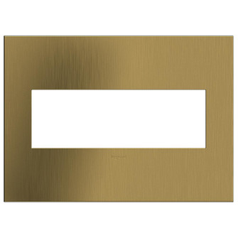 Brushed Satin Brass, 3-Gang  Wall Plate (AWC3GBSB4)
