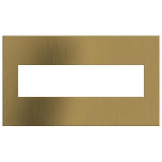 Brushed Satin Brass, 4-Gang  Wall Plate (1452|AWC4GBSB4)