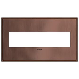 Matte Antique Copper, 4-Gang  Wall Plate (1452 AWC4GMAC4)