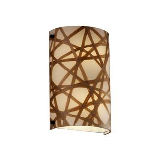 Finials Cylinder Wall Sconce (ADA) (3FRM-5541-CONN-DBRZ)