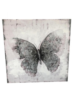 Flutter Black and White Mixed-Media Wall Art (158|4DWA0116)