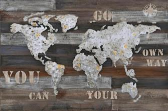 Wanderlust Rustic World Map (158|4DWA0117)