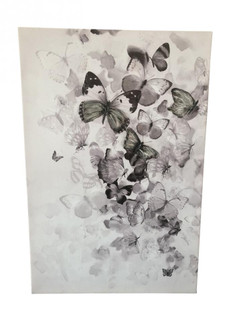 Kaleidoscope Black and White Mixed-Media Butterfly Art (158|4DWA0118)