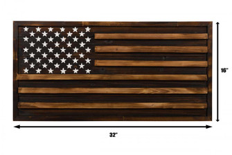 Rustic Pine American Flag Wall Art (158|4DWA0119)