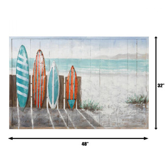 Surfer's Paradise Mixed-Media Wall Art (158|4DWA0120)