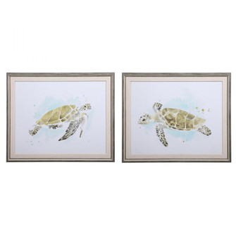Uttermost Sea Turtle Study Watercolor Prints, S/2 (85|33720)