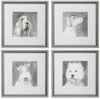 Uttermost Modern Dogs Framed Prints, S/4 (85|33722)
