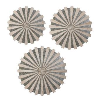 Uttermost Daisies Mirrored Circular Wall Decor, S/3 (85|04276)