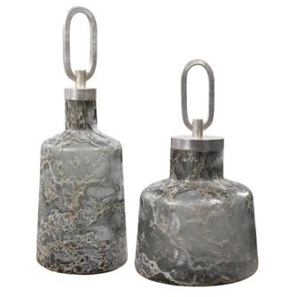 Uttermost Storm Art Glass Bottles, S/2 (85|17840)
