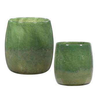 Uttermost Matcha Green Glass Vases, S/2 (85|17845)