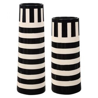 Uttermost Amhara Black & White Vases, S/2 (85|17866)
