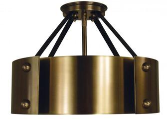 6-Light Antique Brass/Matte Black Lasalle Semi-Flush (84 5290 AB/MBLACK)