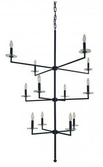 12-Light Matte Black Muse Foyer Chandelier (84 5452 Mblack)