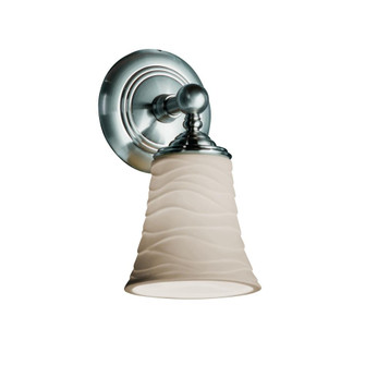 Tradition 1-Light LED Wall Sconce (POR-8521-20-WAVE-NCKL-LED1-700)