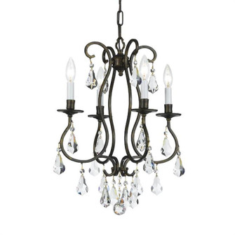 Ashton EX 4 Light Clear Crystal Bronze Mini Chandelier (205|5014-EB-CL-S)