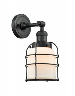 Small Bell Cage 1 Light Semi-Flush Mount (201F-BK-G51-CE)