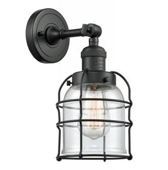 Small Bell Cage 1 Light Semi-Flush Mount (201F-BK-G52-CE)