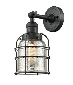 Small Bell Cage 1 Light Semi-Flush Mount (201F-BK-G58-CE-LED)