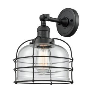 Large Bell Cage 1 Light Semi-Flush Mount (201F-BK-G72-CE)