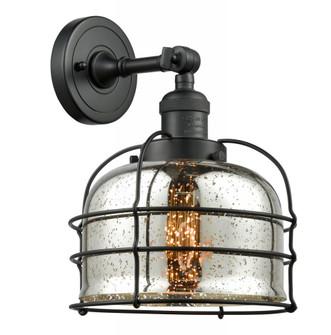 Large Bell Cage 1 Light Semi-Flush Mount (201F-BK-G78-CE)