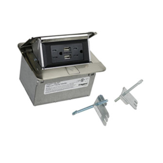 Field Wired Dequorum™ Single Flip Up Unit with USB (1452 DQFF15UST)