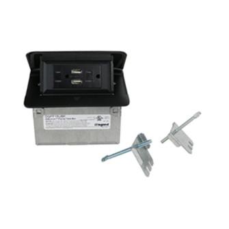 Field Wired Dequorum™ Single Flip Up Unit with USB (1452 DQFF15UBK)