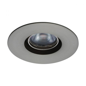 Oculux 1 LED Round Open Adjustable Trim with Light Engine and New Construction or Remodel Housing (16|R1BRA-08-F927-BN)