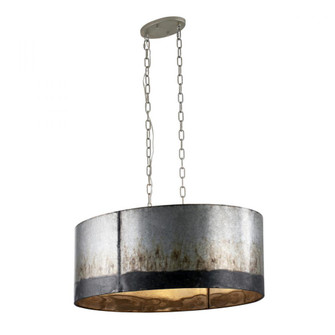 Cannery 6-Lt Oval/Linear Pendant - Ombre Galvanized (158|323N06OG)