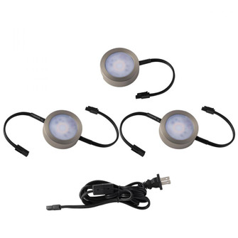 Puck Light Kit- 2 Double Wire Lights, 1 Single Wire Lights, and Cord (16|HR-AC73-CS-BN)